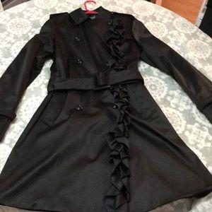 Betsy Johnson black trench coat small